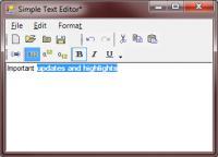 Screenshot programu SimpleTextEditor 1.1