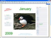 Screenshot programu Simply Calenders 5.3.1422