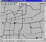 Screenshot programu Simulace silniční dopravy ve městě