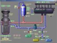 Screenshot programu Simulátor jaderné elektrárny 1.2a
