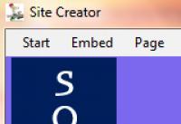 Screenshot programu Site Creator 1.7
