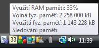 Screenshot programu Sledování paměti 4.0