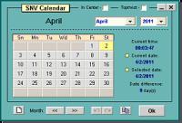 Screenshot programu SNV Calendar Lite 1.0