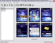 Screenshot programu Sony Ericsson Themes Creator 4.16