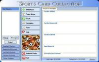 Screenshot programu Sports Card Collection 5.3.1.0