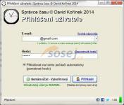 Screenshot programu Správce času 1.28