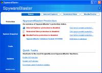Screenshot programu SpywareBlaster 5.4