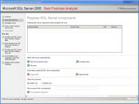 Screenshot programu SQL Server 2005 Best Practices Analyzer August 2008
