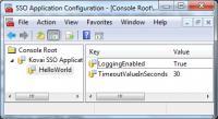 Screenshot programu SSO Configuration Application 1.0