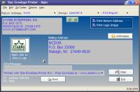 Screenshot programu Star Envelope Printer Pro 5.01