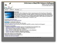 Screenshot programu StayCMS 0.6