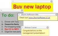 Screenshot programu Stickies 8.0c