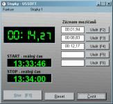 Screenshot programu Stopky 1.0.0