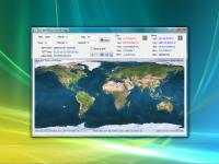 Screenshot programu Sun and Moon World Map 1.0