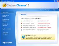 Screenshot programu System Cleaner 7.6.21.660