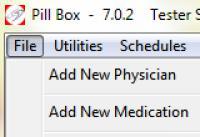 Screenshot programu The Pill Box 7.0.2
