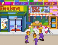 Screenshot programu The Simpsons Arcade Game
