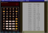 Screenshot programu TI-59