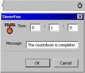 Screenshot programu TimerFox 0.9.20101216