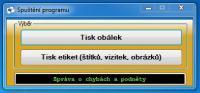 Screenshot programu Tisk obálek 3.2.2.4