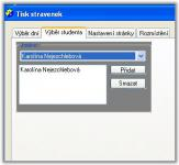 Screenshot programu Tisk stravenek 2.0.0.4