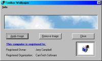 Screenshot programu Toolbar Wallpaper 2.0