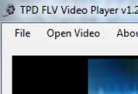Screenshot programu TPD FLV Video Player 1.2.5.0