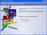 Screenshot programu Trainer Maker  4