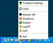 Screenshot programu TrayDevil 1.4.4