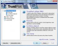 Screenshot programu TrustPort eSign Pro 2.0 11.0.0.4410