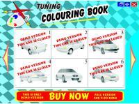 Screenshot programu Tuning colouring book 1