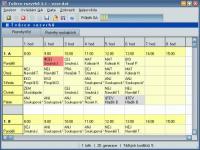 Screenshot programu Tvůrce rozvrhů 3.1