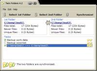 Screenshot programu Twin Folders 4.5