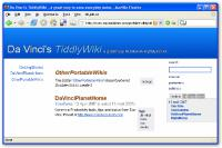 Screenshot programu TyddlyWiki 2.6.5