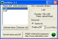 Screenshot programu UnFREEz_CZ 2.1