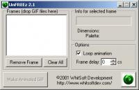 Screenshot programu UnFREEz 2.1