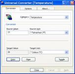 Screenshot programu Universal Converter 2.2