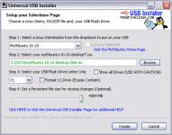 Screenshot programu Universal USB Installer 1.9.6.3