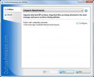 Screenshot programu Unpack Attachments 2.3