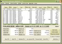 Screenshot programu Valutový pokladní deník WalSoft 1.1