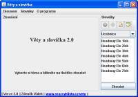 Screenshot programu Věty a slovíčka 3.1