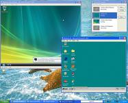 Screenshot programu Microsoft Virtual PC 2007 SP1