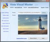 Screenshot programu Vista Visual Master 1.02