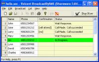 Screenshot programu Voicent BroadcastBySMS 8.3.4