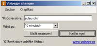 Screenshot programu Volpejr Changer 1.0