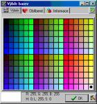 Screenshot programu Výběr barev 1.0