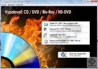 Screenshot programu Vypalovač CD / DVD / Blu-ray / HD-DVD 1.1
