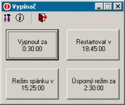 Screenshot programu Vypínač 0.97