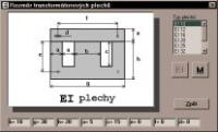 Screenshot programu Výpočet vinutí transformátoru 2.1.3