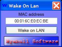 Screenshot programu Wake on LAN 1.0